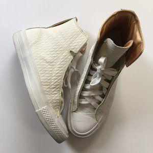 CONVERSE Limited Edition White Leather High Tops